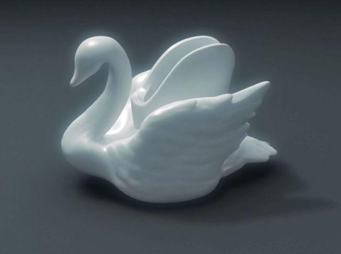 swan vase pinshape 3d printing designs