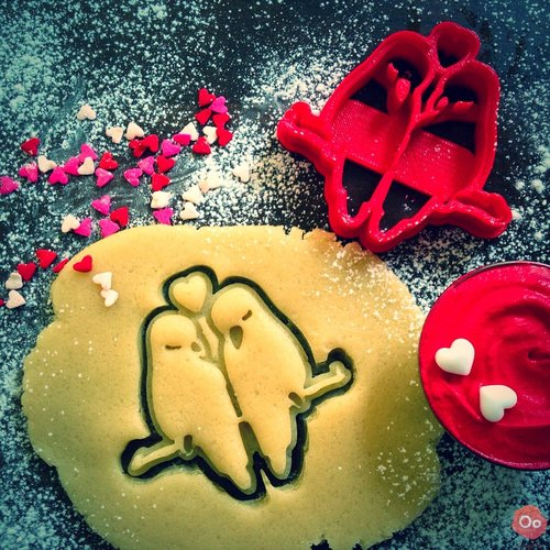 valentines 3d printing designs cookie cutter oogime