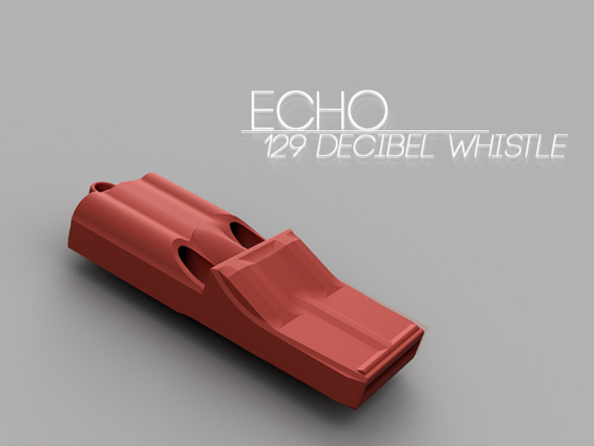 echo 129 decibel whistle 3d printable designs