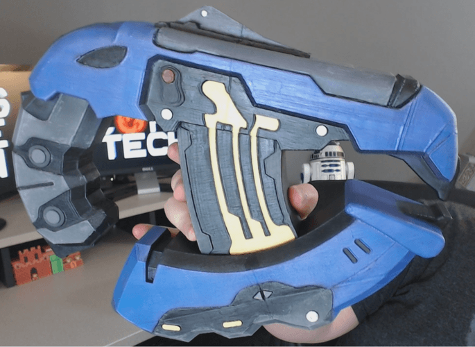 halo plasma pistol 3d printable designs