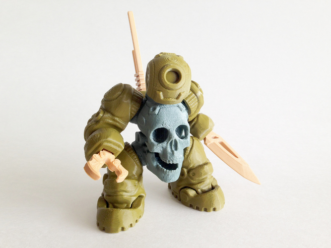 skullbot 3d printable designs