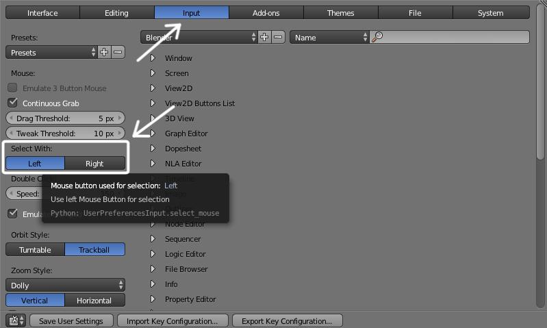 select mouse blender 3d printing