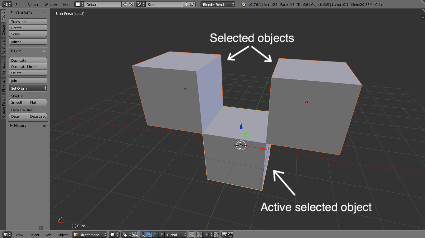 select object in blender 3d printing