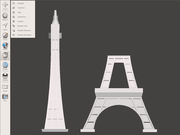 eiffel-tower-post-cut 3d printing large objects