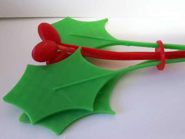 christmas 3d designs mistletoe