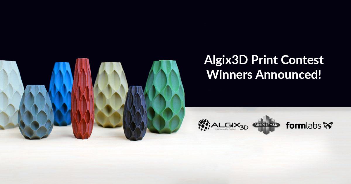 Algix3D Print Contest Winners!