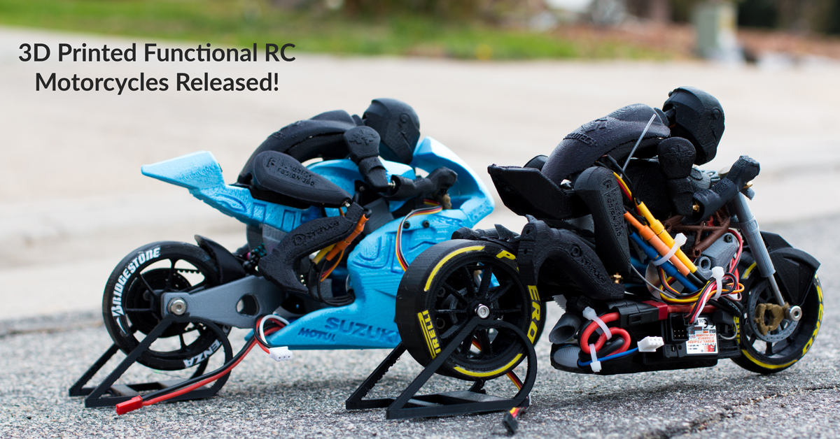 3D Printed Functional Race Motorcycles Debut on Pinshape