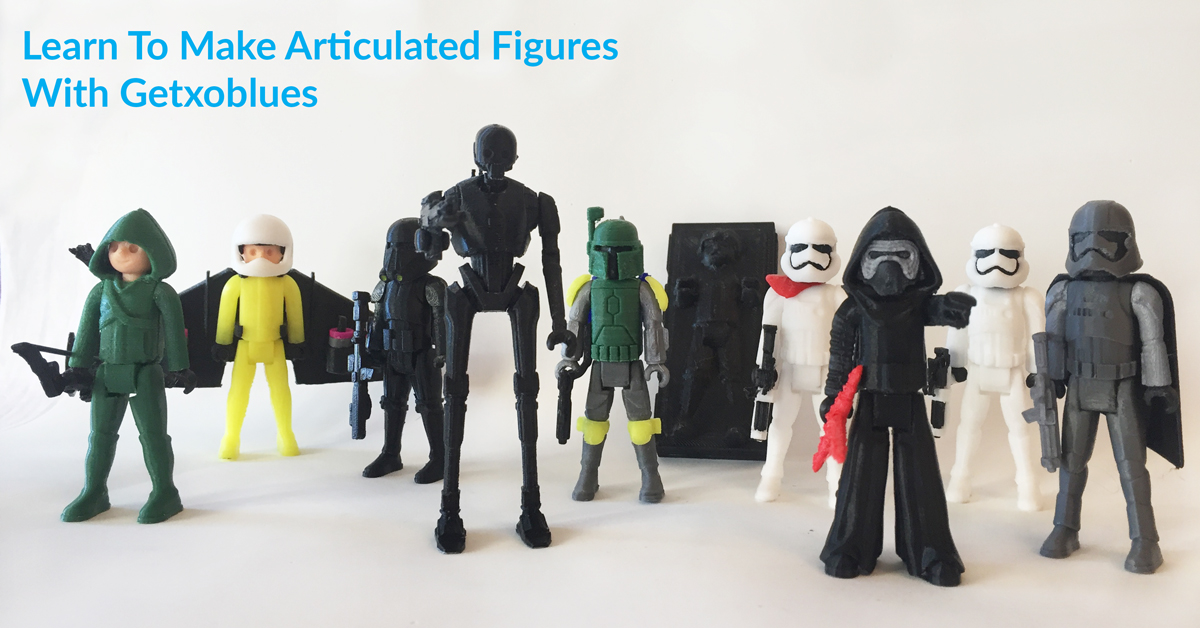 Design Your Own 3D Printable Articulated Characters