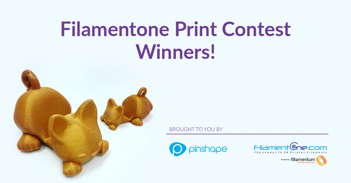 Announcing the Filamentone Print Contest Winners!