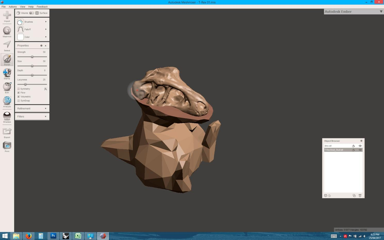 Remixing 3D Designs sculpting flatten