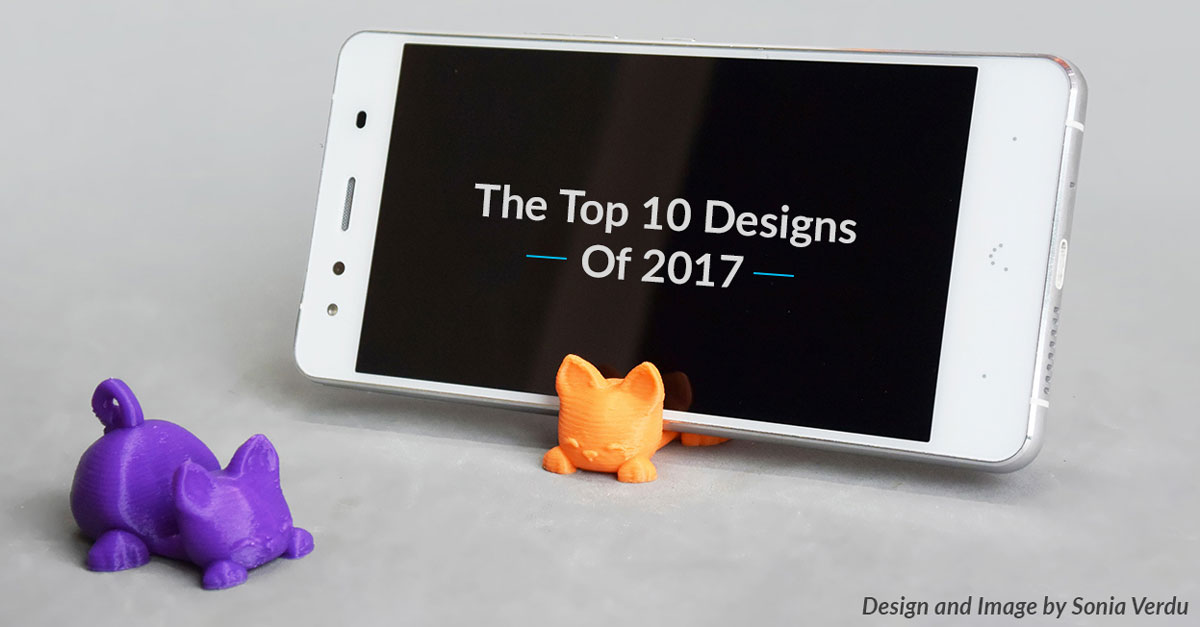 The Top 10 Designs of 2017 on Pinshape!